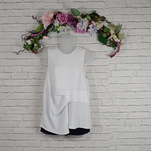 Topshop Cinched Ruffle Tank Blouse Size 6